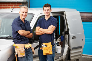 Tradies with a van & business website to promote their business to assist growth